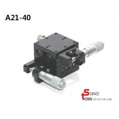 [A21-40L,R,C]XY-Axis Stage 40x40 크로스 롤러 가이드