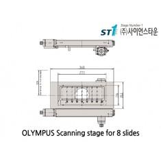 [Olympus Scanning stage] Scanning stage for 8 slides