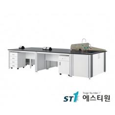 실험실 알루미늄 콘센트형 중앙실험대 [LCA-2231,37,43,49,55]