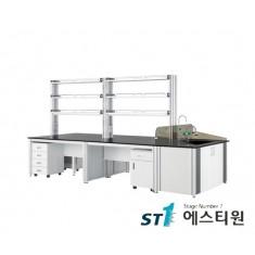 실험실 알루미늄 시약대형 중앙실험대 [LCA-3231,37,43,49,55]