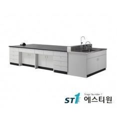 실험실 목재 콘센트형 중앙실험대 [LCW-2231,37,43,49,55]