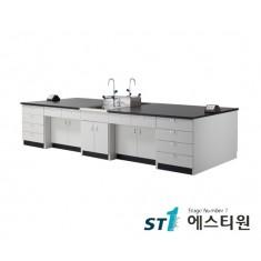 실험실 목재 콘센트형 중앙실험대 [LCW-2331,37,43,49,55]